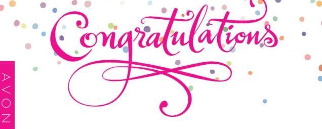 congratulations avon pink