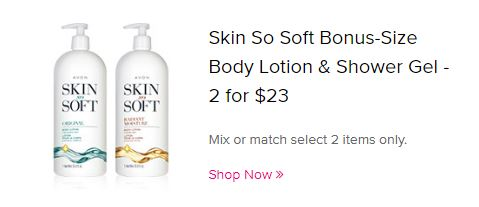 Skin So Soft Bonus-Size Body Lotion & Shower Gel