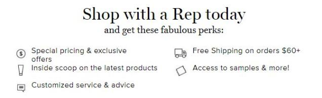Shop with an Avon Representative