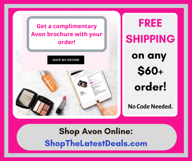 free Avon brochure and free shipping